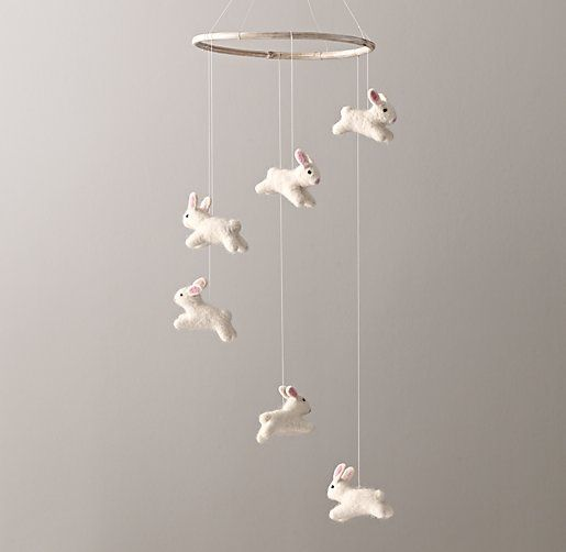 Wool Felt Bunny Mobile - RH
