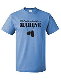 New Egoteest USMC Shirt - My Heart Belongs To a Marine - Marine Girlfriend Shirt - US Army Girlfriend Shirt - I Love a Marine online. Find the perfect Meaneor Tops-Tees from top store. Sku DYHR87340GERO69386