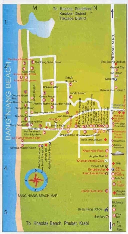 Khao Lak Khaolak Thailand: Restaurants in the Bang Niang Beach Area