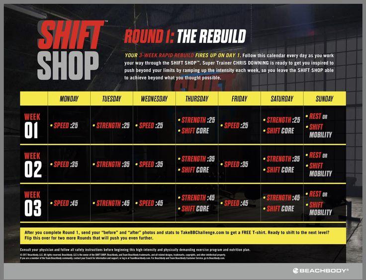 Shift Shop Round 1 Calendar