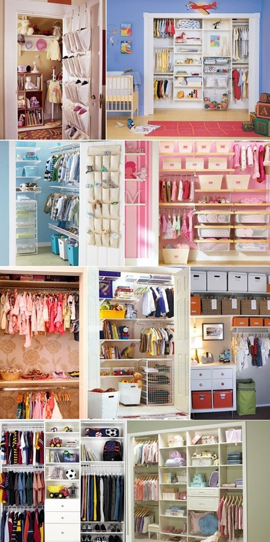 Closet organization tips for little ones.  (I think I already pinned all these, but just in case...)