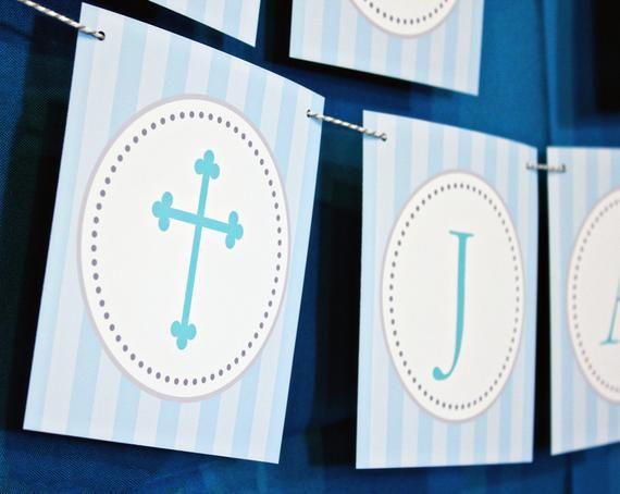 Baptism Banner First Communion Banner God Bless Banner Etsy First Communion Banner Communion Banner Baptism Banner