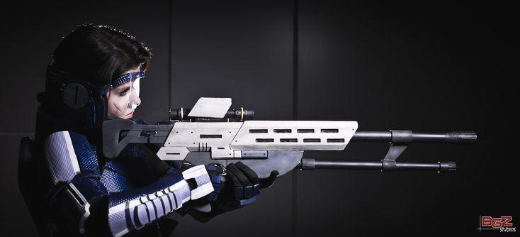 My cosplay as FemShep from Mass Effect. Photo by Darrell Ardita of BGZ Studios.