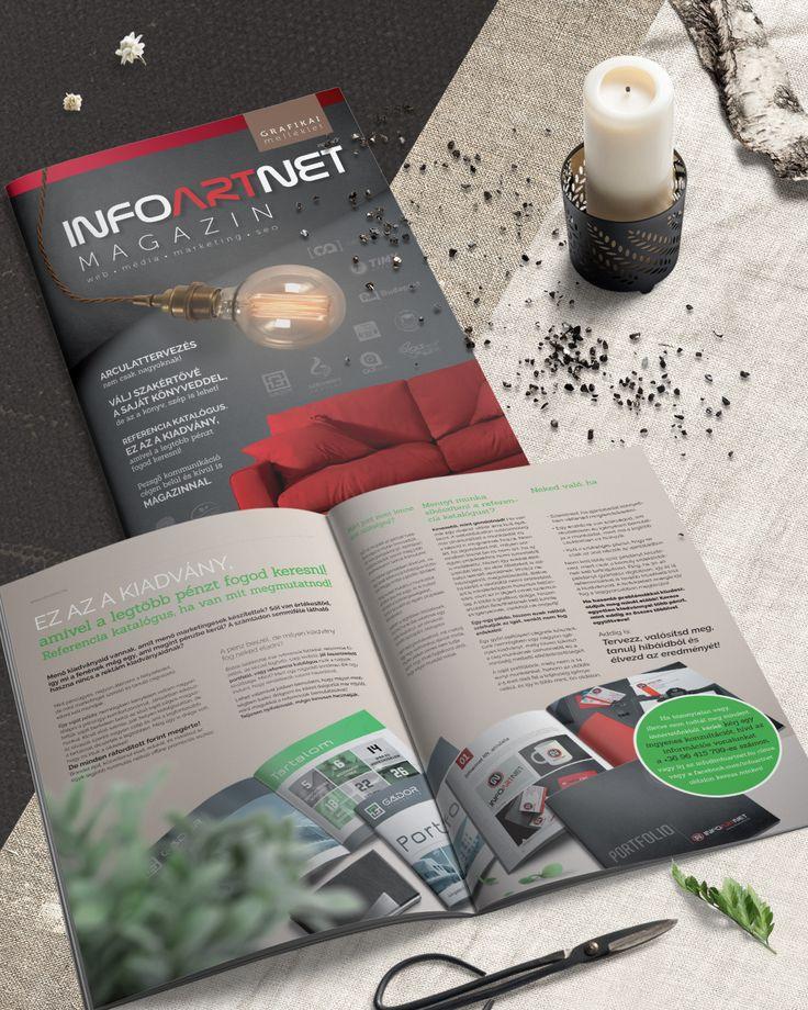 A Infoartnet grafikai üzletágának kiadványa. #mockup, #infoartnet, #design, #cégarculat, #corporate, #identity