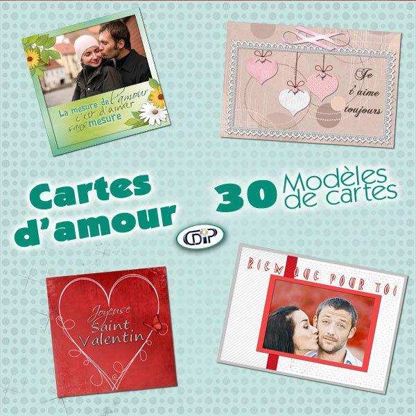 Mes pages de Scrapbooking et mes carteries avec les modèles de cartes « Cartes d'amour » - Saint-Valentin par la boutique CDIP