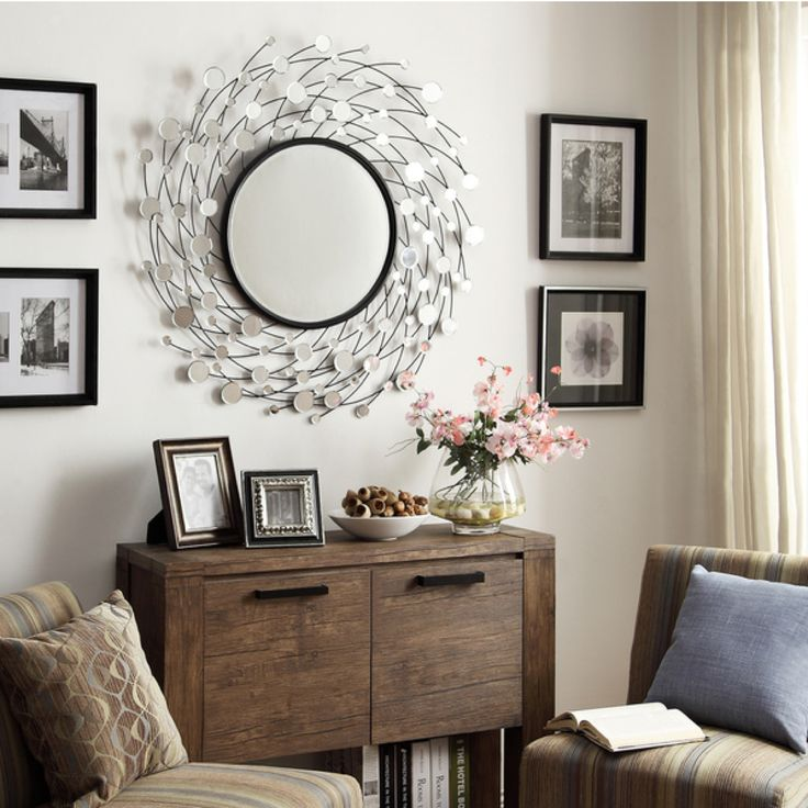 For Big Accent Wall Do I Need Big Pictures: Does Your Accent Mirror Look Lonely On A Big Wall? Flank