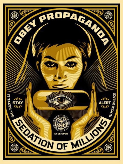 Obey propaganda sedation of millions | Anonymous ART of Revolution