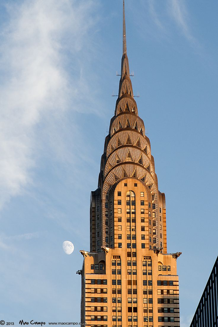 The Chrysler Building and the Moon