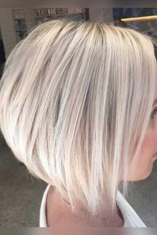 Blonde Empilés Bob Coupe de cheveux