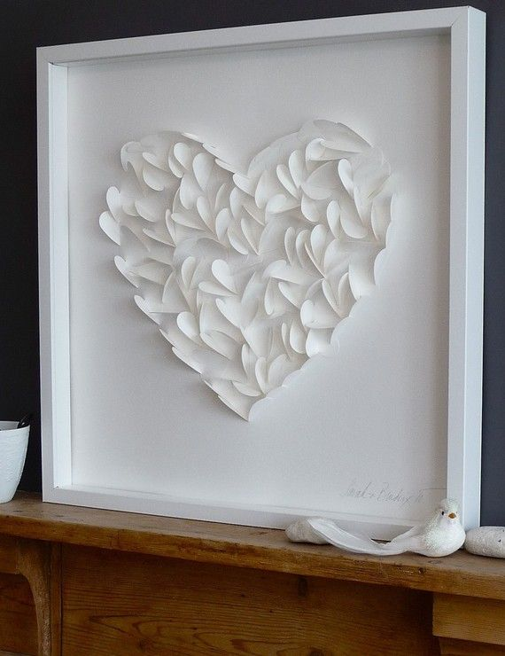 Sweet, little paper hearts cut into a shadow box and perfectly framed are delightful, charming and perfect for Valentines Day!   Sarah and B...
