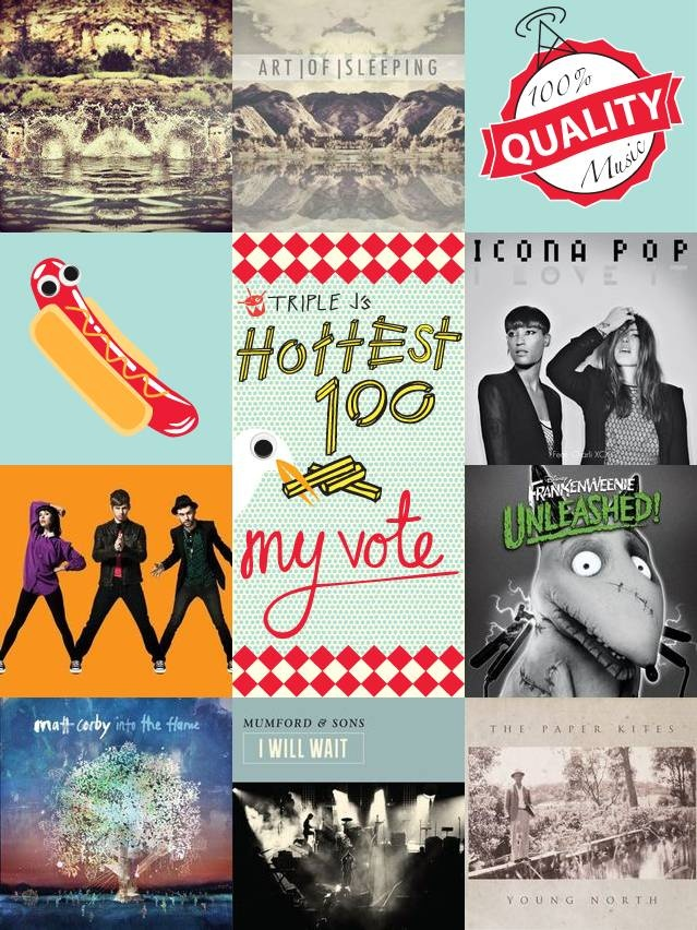 Another year of good music. Triple J hottest 100 votes in. #2012