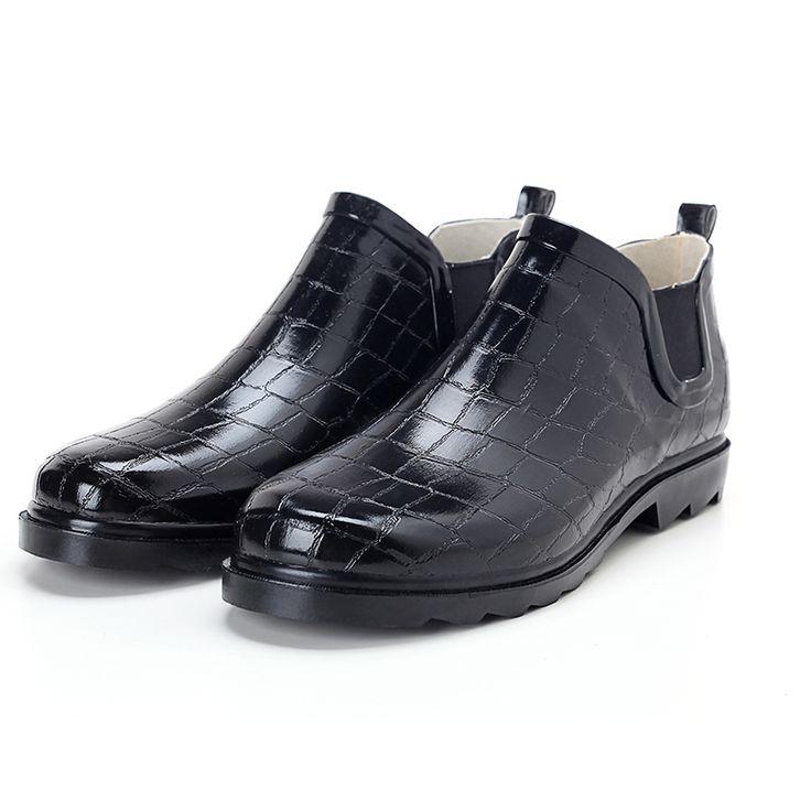 winter fishing Men Rain Boots Rubber Ankle Waterproof