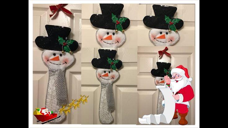 Decoracion de muñeco de nieve en forma de llave