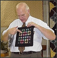 George Siciliano. An amazing quilter. A retired Marine, who was taught to quilt by his wife, Virginia.