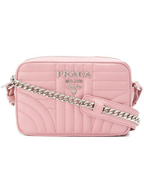 322068ef5b42 PRADA quilted crossbody bag. #prada #bags #shoulder bags #leather #crossbody  #lining #