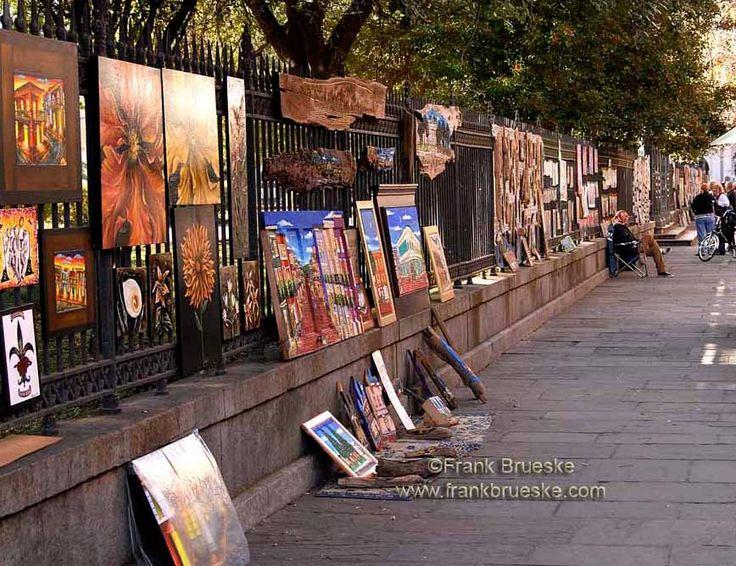 New Orleans Street Art, French Quarter Art,, Jackson Square New Orleans, Louisiana Art, New Orleans Art, Frank Brueske by FrankBrueskePhotos on Etsy