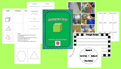 Free Geometry printables and ideas for holding a Geometry Fest in your classroom.