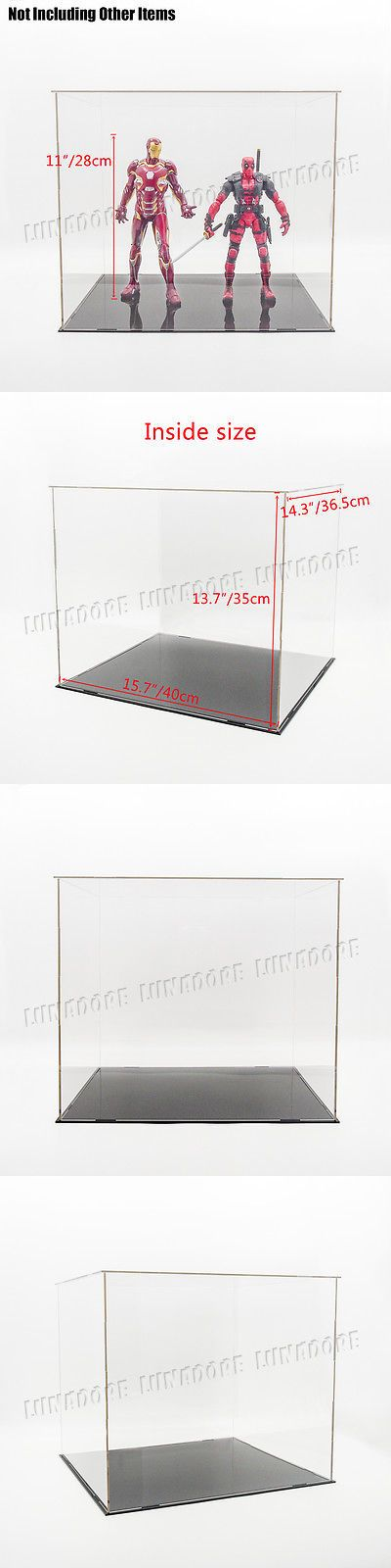 Display Cases and Stands 171135: Us 16 40Cm Acrylic Plastic Display Box Big Perspex Case Dustproof Self-Assembly -> BUY IT NOW ONLY: $39.99 on eBay!