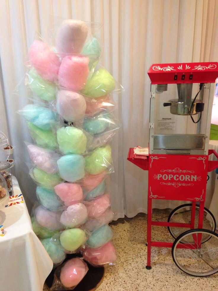 Carnaval Party Decor Popcorn Machine and Cotton Candy