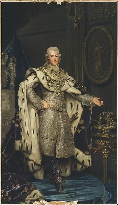 Gustav III, 1746-1792, King of Sweden by Alexander Roslin, 1777. Nationalmuseum Sweden, CC BY-SA