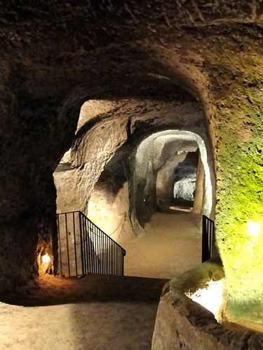 Etruscan tunnels under Orvieto. Makes this the most incredible city in Italy!!