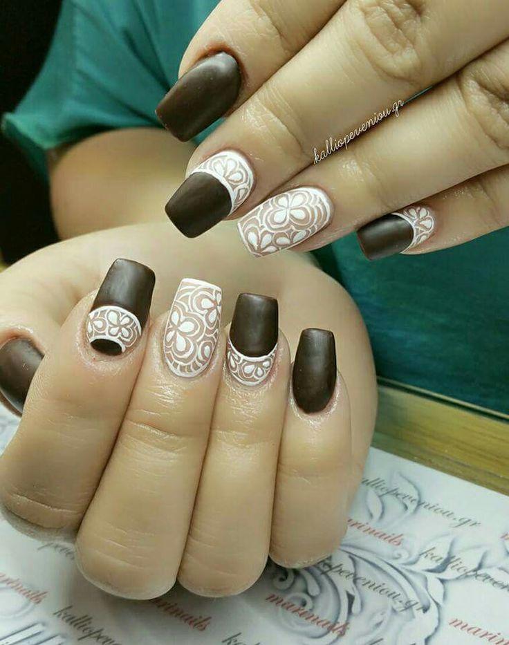 #nailart #handmadenailart #mattenails #mattebrownnails #kalliopeveniou #viphall #vipservices #trusttheexperts