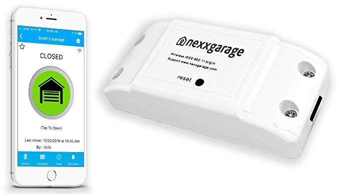 Nexx Garage Nxg 100 Nxg Remote Compatible Door Openers Control Using Smart Phone A Smart Garage Door Opener Garage Door Controller Garage Door Opener Remote