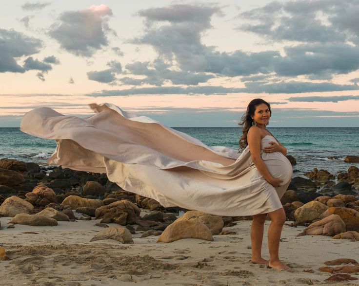 Natural Maternity Photography Beach Photography