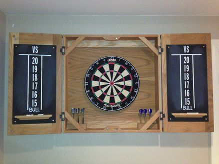 Classic Dart Board Cabinet Project Ideas Pinterest