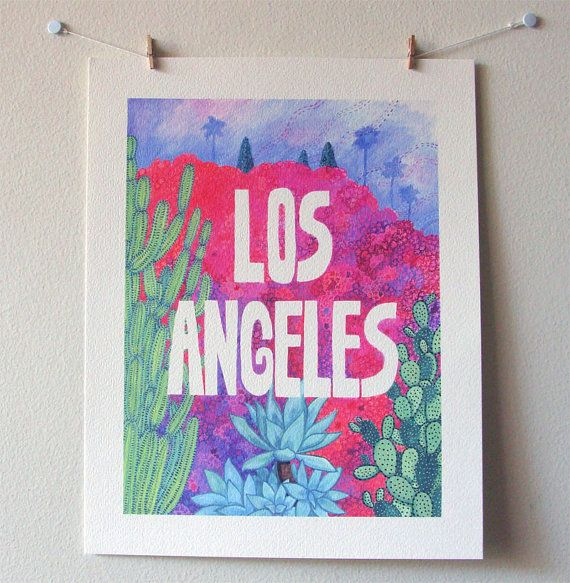 Los Angeles Print by CactusClub on Etsy
