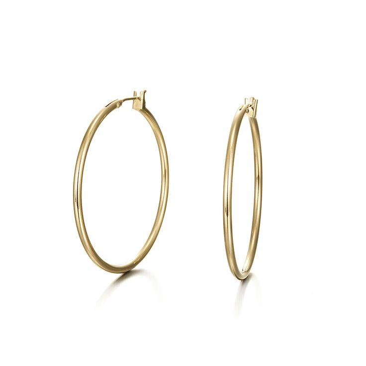 18ct Yellow Gold Layered LaRose Golde Hoop Earring | Allure Gold