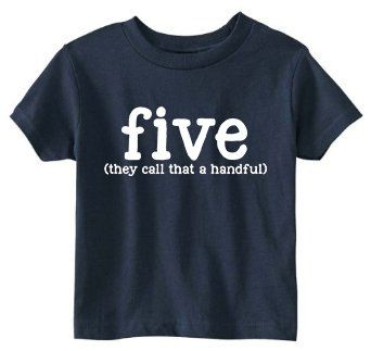 Toddler 5th Birthday Shirt SOFT 5 Color Choices by JackOfNone More