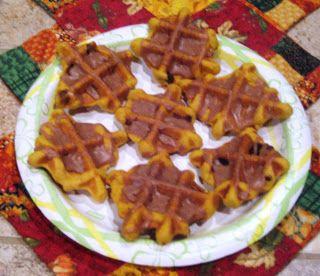 One Crazy Cookie: Pumpkin Waffle Iron Cookies
