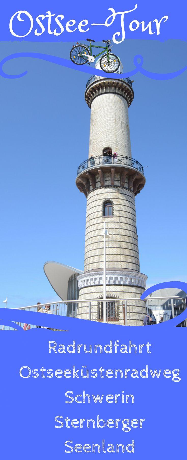 Der Warnemünder Leuchtturm liegt auf der wunderschönen Radtoute, welche über den Ostseeküstenradweg, Schwerin, Rostock, Güstrow und das Sternberger Seenland führt. #Reise #Deutschland #Outdoor #mecklenburg #ostsee #schwerin #rostock #wismar
