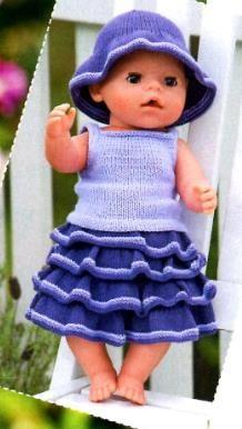 Схемы вязания крючком для кукол летний костюм