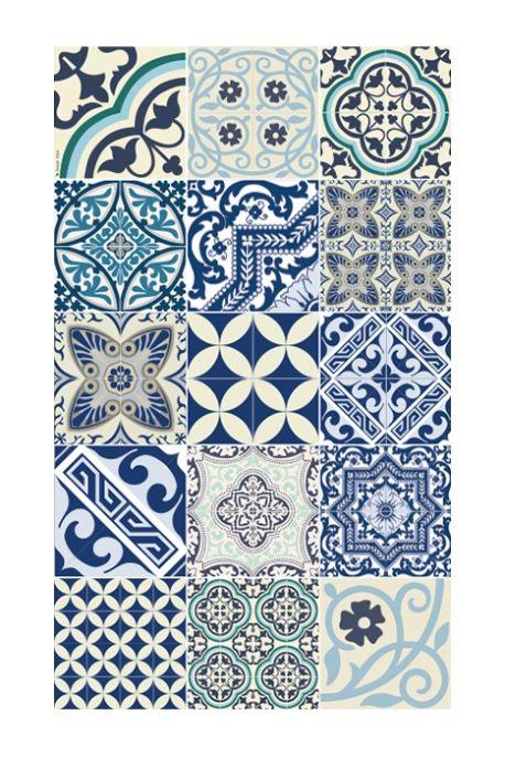Tapis E8 60 x 100 cm collection eclectic bleu