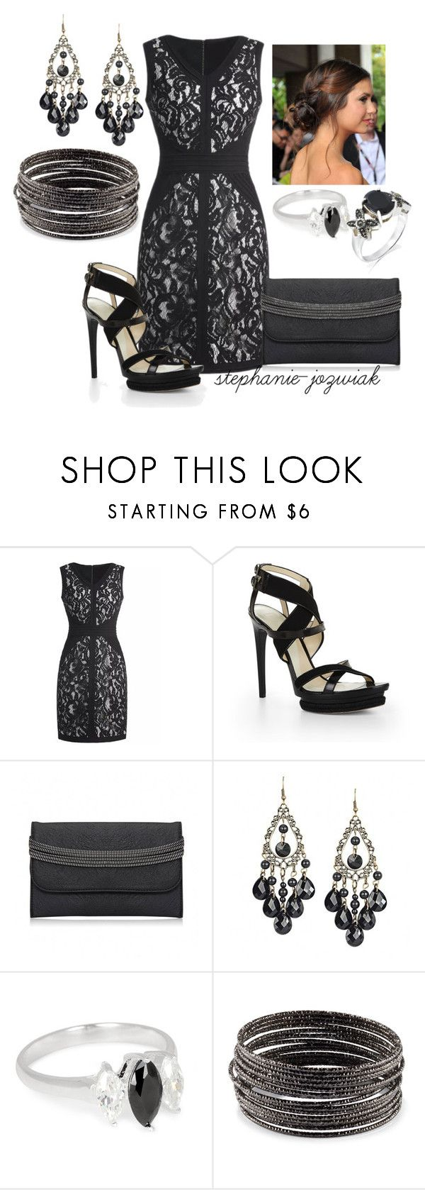 """""""Mandy's Dress for Kathrine's Funeral"""" by stephanie-jozwiak ❤ liked on Polyvore featuring Hervé Léger, Möve, Simply Silver, H&M and Giani"""