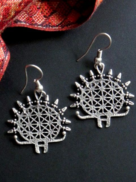 buy these silver plated sunburst dangle earrings and more great fair trade turkish jewelry at tribal muse