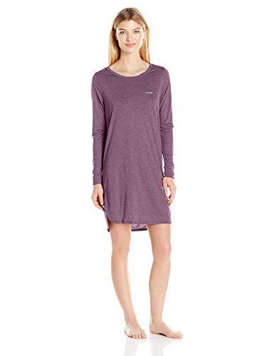 Calvin Klein Women's Liquid Luxe Long Sleeve Nightshirt #deals