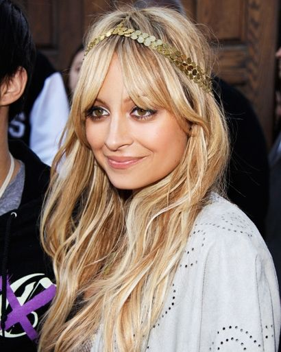 Nicole richie boho goddess golden blonde hair