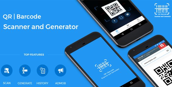 QRCODE and BARCODE SCANNER with GENERATOR + ADMOB - Source Code Free Download Source Code Android Studio!