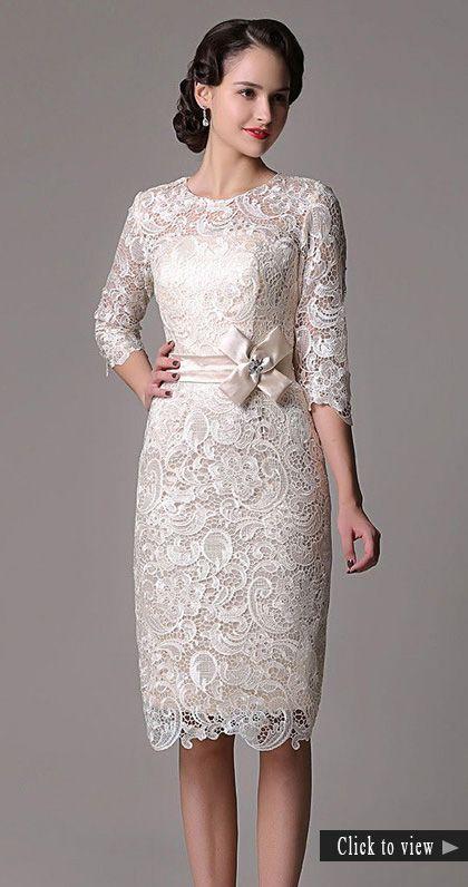 45 Amazing Short Wedding Dress For Vow Renewal Short