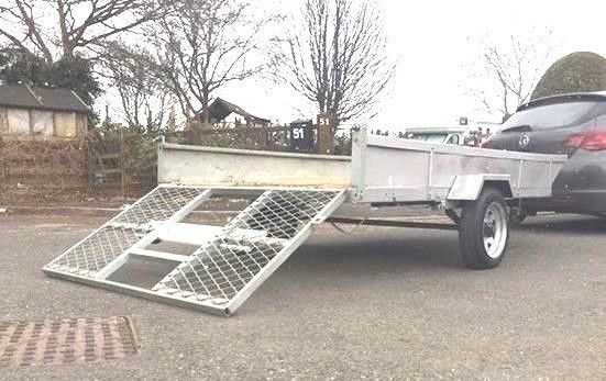 Metal Trailer - for Quad Bike - Motorbike - Ride on Mower - Go Kart Heavy Duty