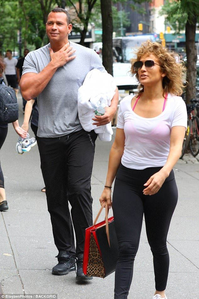 So close: On Thursday, Jennifer Lopez and Alex Rodriguez, who've been dating for three months, hit up the gym together in New York