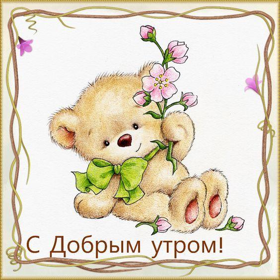 Доброе утро открытки с мишками, медвежонок