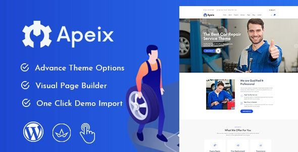 Apeix Car Repair Service Auto Mechanic Wordpress Theme Stylelib Car Repair Service Auto Repair Car Mechanic