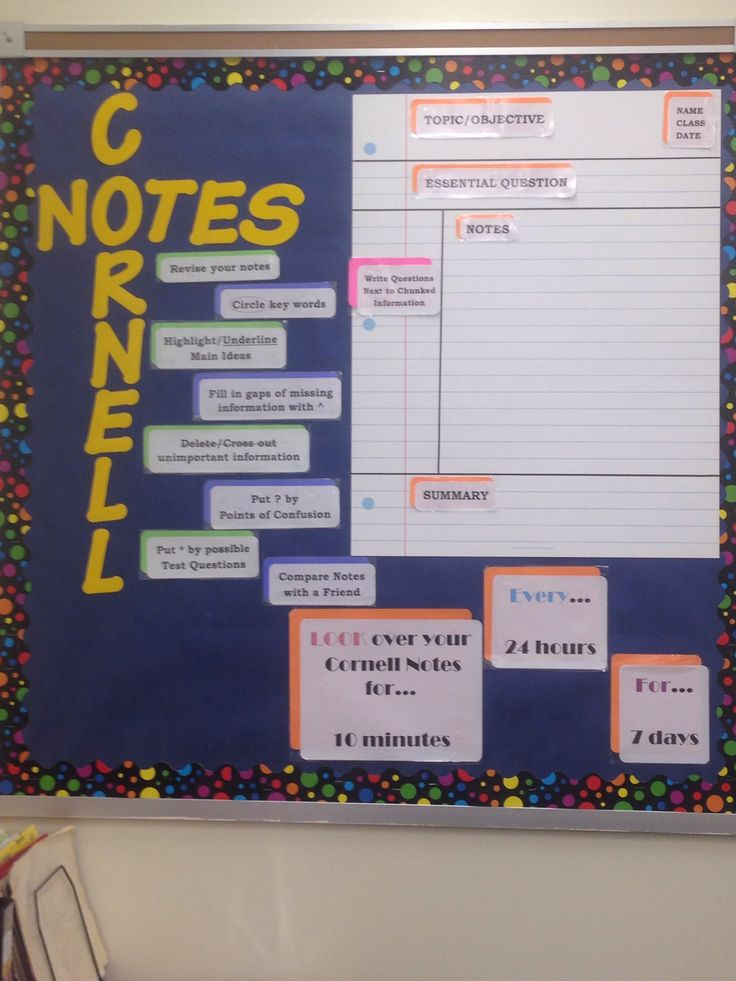 Cornell Notes Bulletin Board