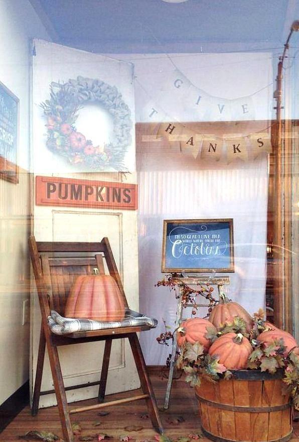 Murphysboro 2020 Halloween Fall Window Display Love of Family Home Store in Murphysboro