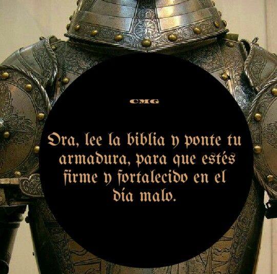 Por tanto, tomad toda la armadura de Dios, para que podáis resistir en el día malo, y habiendo acabado todo, estar firmes.  Efesios 6:13 RVR1960