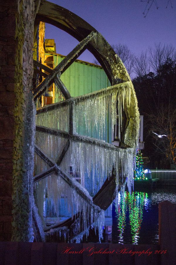Frozen Water Wheel, Dollywood, Great Smokey Mountains, Tennessee by Butch Gabehart